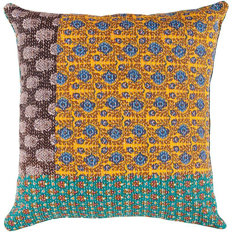 Yellow Throw Pillows At Kohls : ARTISAN WEAVER BRIG FLORAL DECORATIVE PILLOW - 18