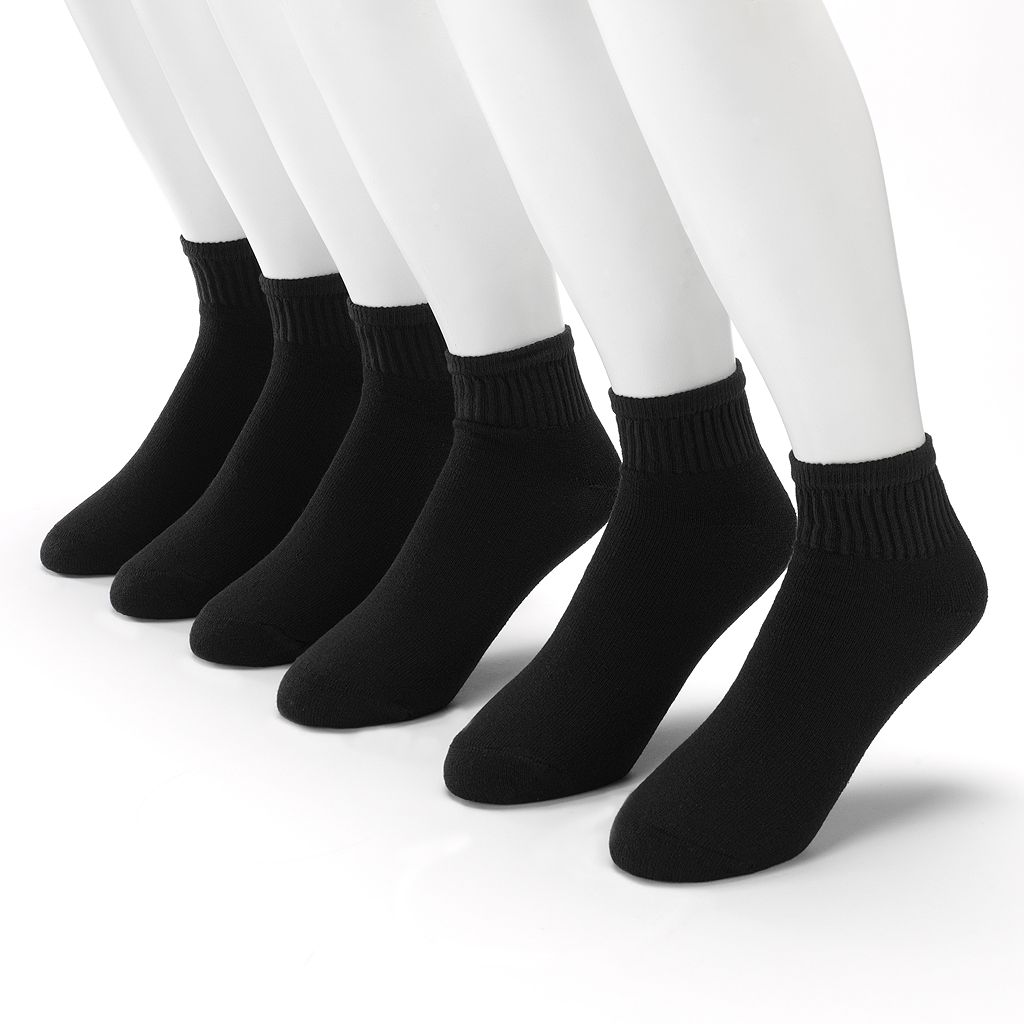 Men's Gildan Platinum 6-pk. Performance Quarter Socks