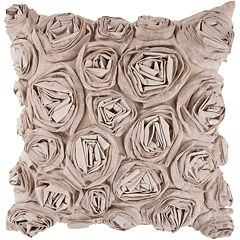 Decor 140 Bulle Rosette Decorative Pillow - 18' x 18'