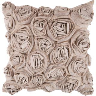 Decor 140 Bulle Rosette Decorative Pillow - 18'' x 18''