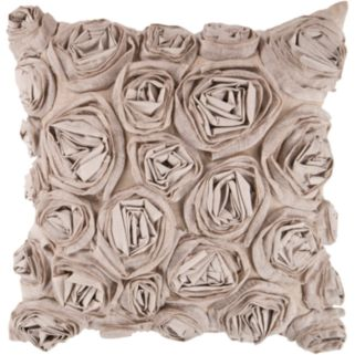Decor 140 Bulle Rosette Decorative Pillow - 18'' x 18''