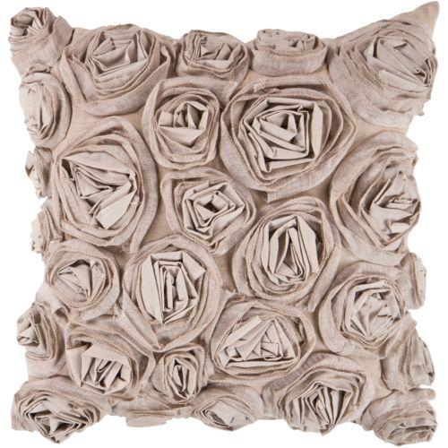 "Decor 140 Bulle Rosette Decorative Pillow – 18"" x 18"""