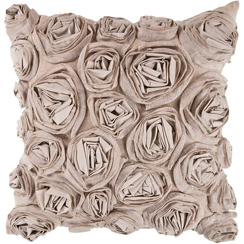 "Decor 140 Bulle Rosette Decorative Pillow - 18"" x 18"""