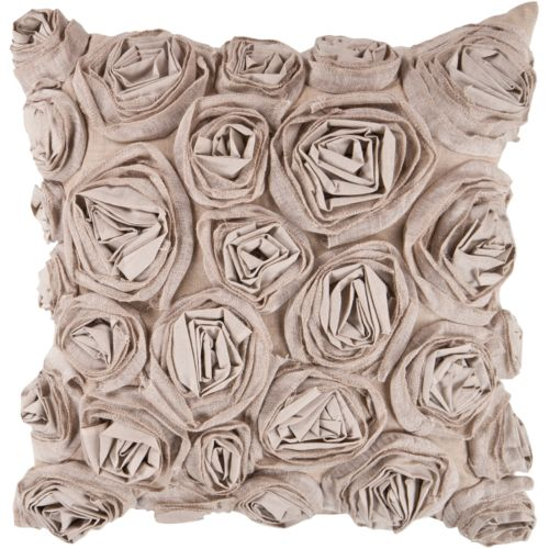 "Decor 140 Bulle Rosette Decorative Pillow – 22"" x 22"""
