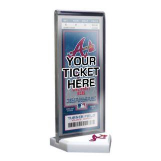 Atlanta Braves Home Plate Ticket Display Stand