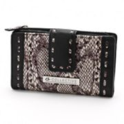 B-Collective by Buxton Margaret Leather Glazed Snakeskin Wallet