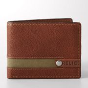 Relic Avondale Canvas Inset Leather Bifold Wallet