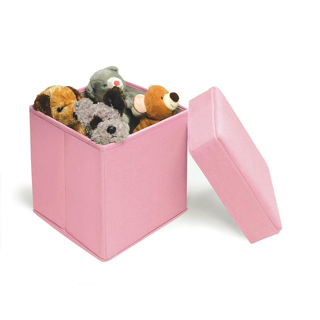 Badger Basket Folding Storage Seat - Pink