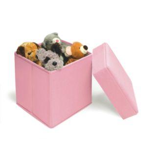 Badger Basket Folding Storage Seat - Pink