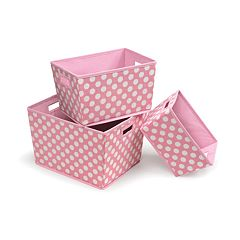 Badger Basket 3 pc Trapezoid Basket Set - Pink