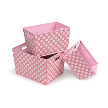 Badger Basket 3-pc. Trapezoid Basket Set - Pink