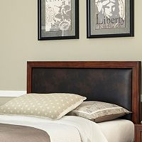 Queen Leather Panel Headboard