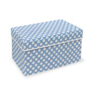 Badger Basket Double Folding Storage Seat - Blue