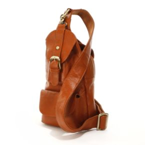 AmeriLeather Grylls Sling Mini Leather Backpack
