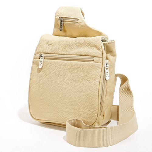 AmeriLeather Travel Leather Crossbody Bag