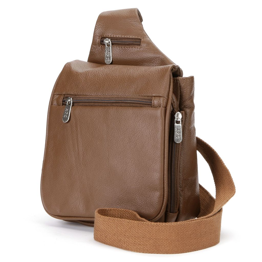 AmeriLeather Travel Leather Crossbody Bag