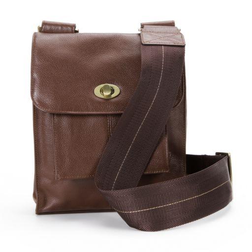 AmeriLeather Antony Leather Mini Messenger Bag