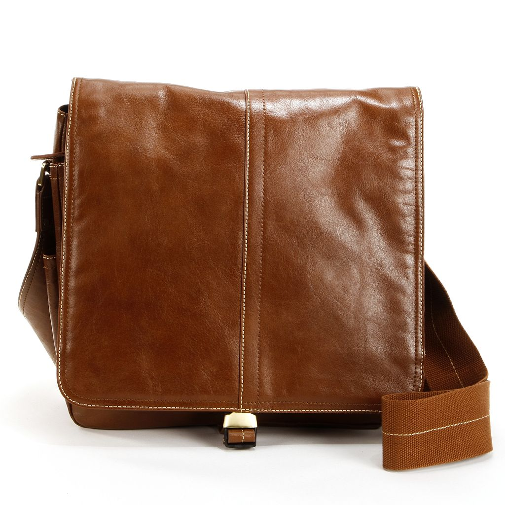 AmeriLeather Teddy Leather Messenger Bag