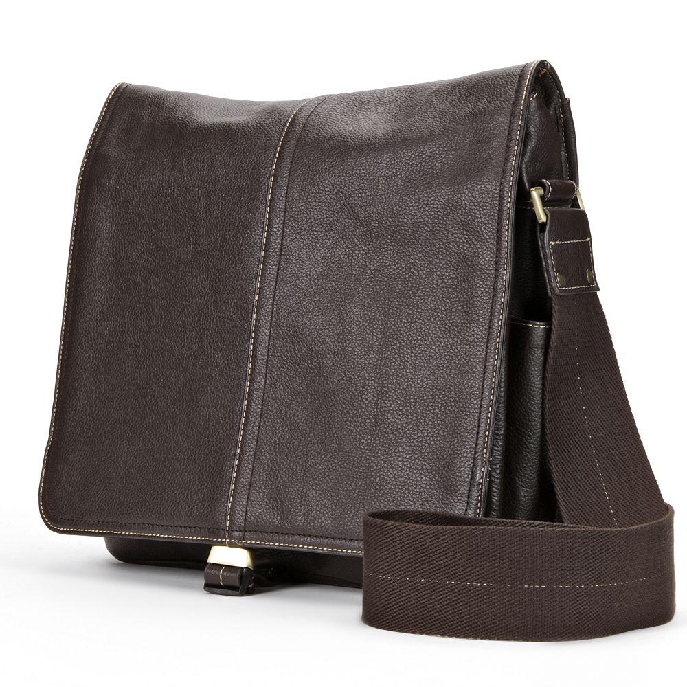 AmeriLeather Teddy Leather Messenger Bag