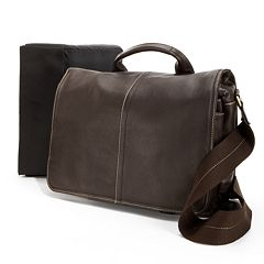 AmeriLeather Legacy Woody Leather Portfolio Messenger Bag