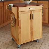 Oak-Top Kitchen Cart