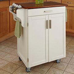 Oak-Top Kitchen Cart