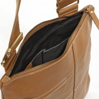 AmeriLeather Slim Leather Crossbody Bag