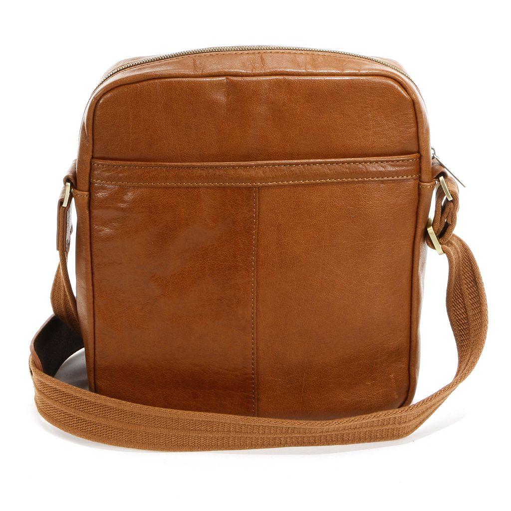AmeriLeather Front Flap Leather Messenger Bag