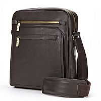 AmeriLeather Front Flap Leather Messenger Bag