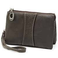 AmeriLeather Mini Zip Leather Wristlet