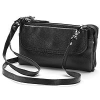 AmeriLeather Mia Leather Wristlet