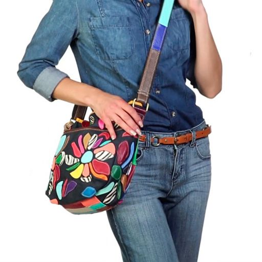 AmeriLeather Tansy Leather Mini Crossbody Bag