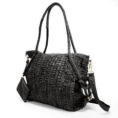 AmeriLeather Echo Leather Convertible Shoulder Bag