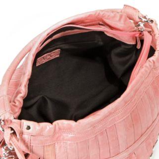 AmeriLeather Tutu Studded Leather Patchwork Shoulder Bag