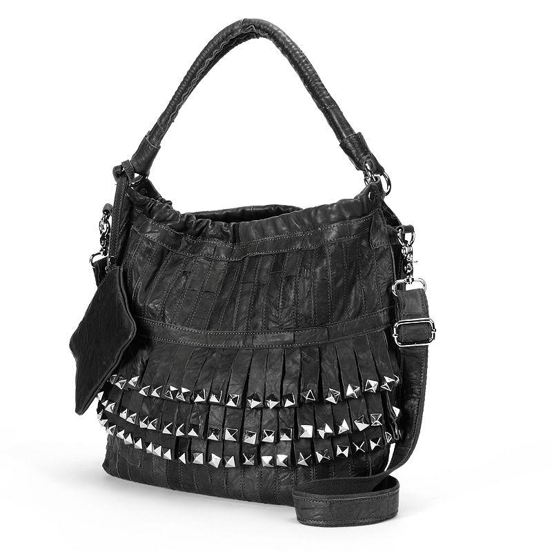 Pieced Patchwork Shoulder Bag Amerileather Tutu Studded Leather Patchwork Shoulder Bag