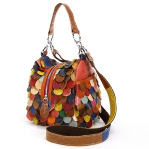 AmeriLeather Feesh Mini Leather Convertible Shoulder Bag