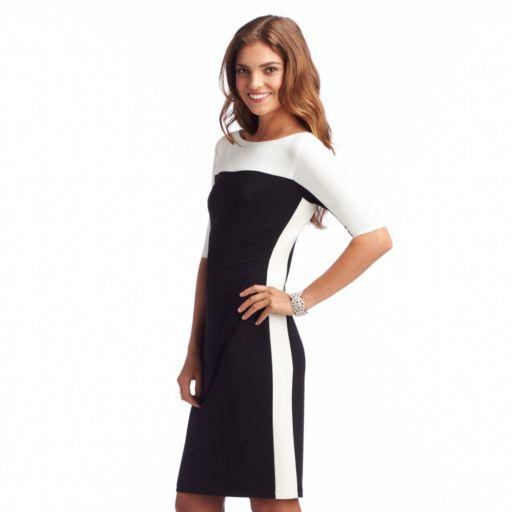 Chaps Colorblock Sheath Dress - Women's