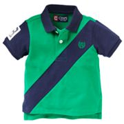 Chaps Diagonal Striped Polo - Baby