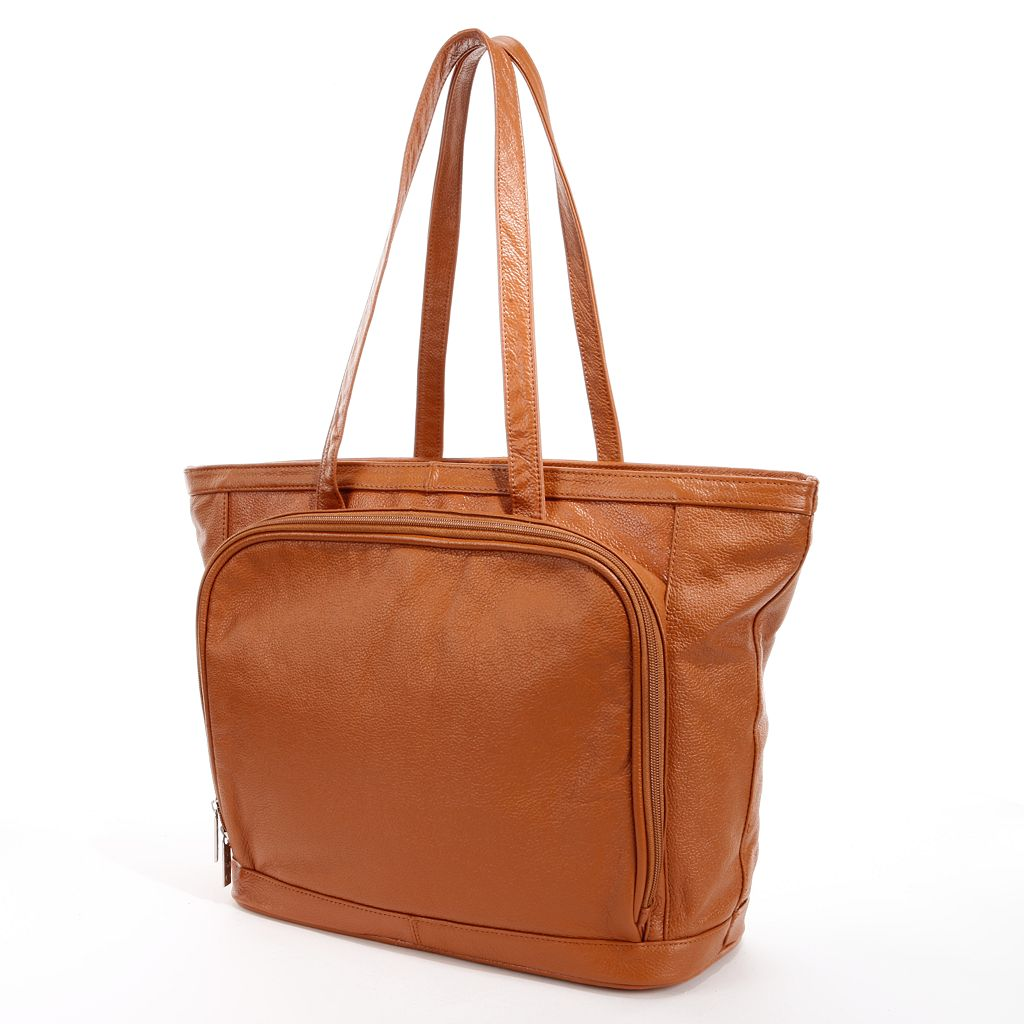 AmeriLeather Cosmopolitan Leather Tote