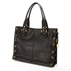 AmeriLeather Double Handled Buckle Leather Tote