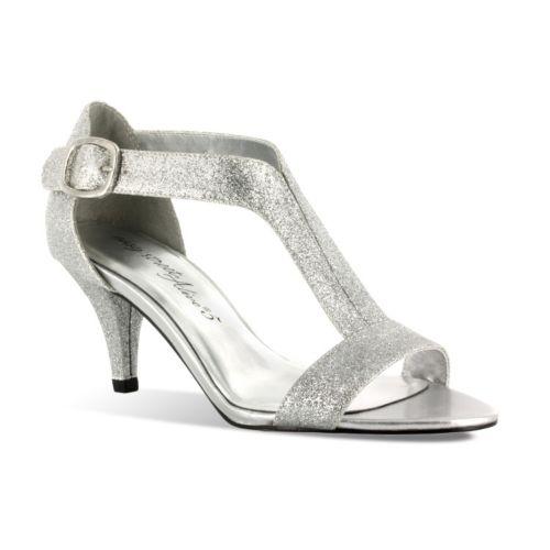 Awesome FIC FLORAL Elva Women Wide Width High Heel Platform Dress Sandal Size