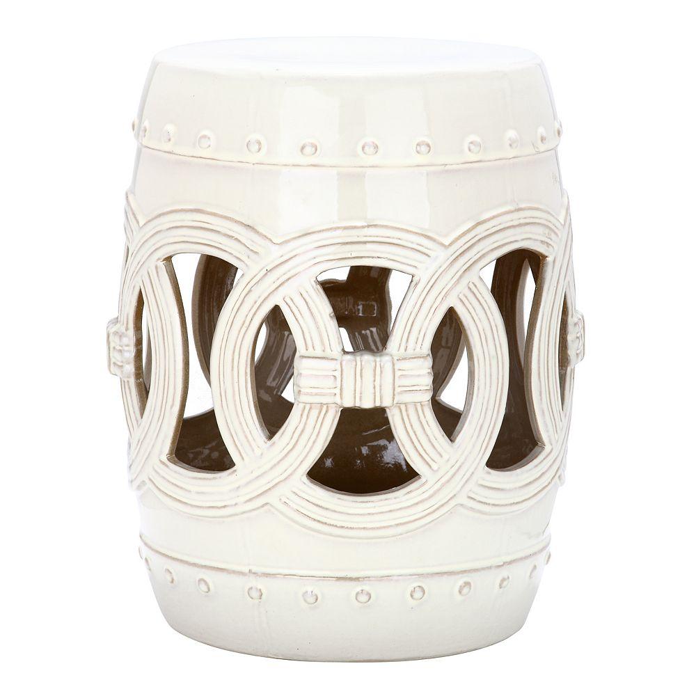 Safavieh Double Coin Distressed Ceramic Garden Stool