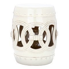 Safavieh Double Coin Distressed Ceramic Garden Stool