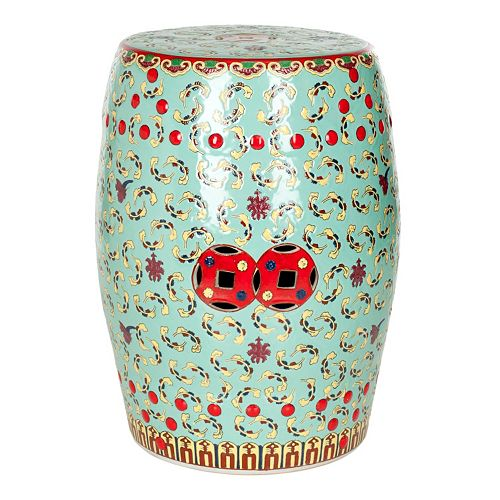 Surprising Safavieh Floral Ceramic Garden Stool Caraccident5 Cool Chair Designs And Ideas Caraccident5Info