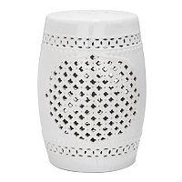 Safavieh Quatrefoil Ceramic Garden Stool