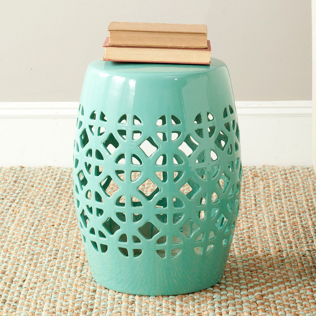 Safavieh Circle Lattice Ceramic Garden Stool