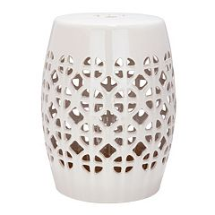 Safavieh Circle Lattice Ceramic Garden Stool