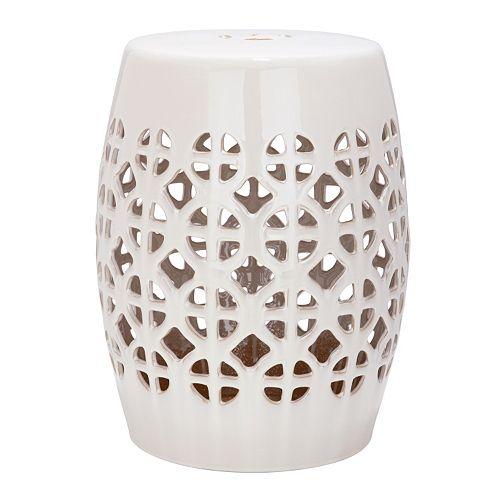 Amazing Safavieh Circle Lattice Ceramic Garden Stool Ncnpc Chair Design For Home Ncnpcorg