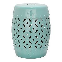 Safavieh Lattice Coin Ceramic Garden Stool