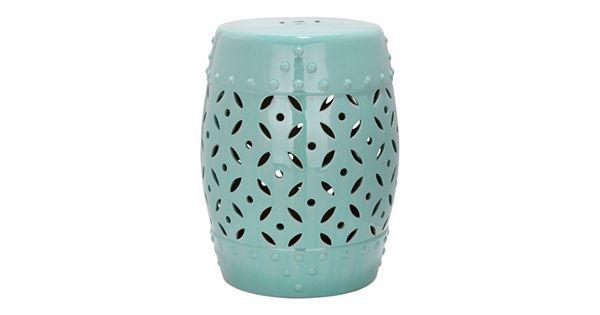 Safavieh Lattice Coin Ceramic Garden Stool